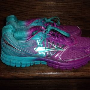 Womens Brooks GTS 14 Teal/Purple Running Shoes 11